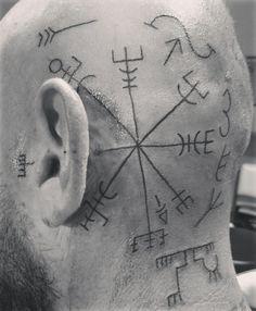my vegvisir head tattoo