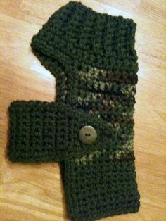 Dog Sweater, small dogs, dog clothing, sweaters, crochet, crochet sweaters, camoflage, green, pets, pet clothing