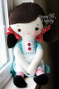 Cute as candy handmade doll