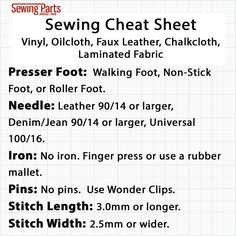 "Are you ready to learn how to sew vinyl? Then you've come to the right place! Vinyl fabric is very versatile and is ideal for indoor and outdoor sewing projects. You can make everything from patio cushions and pillows to beach bags to raincoats and baby bibs. ""Vinyl"" is really just a blanket term for any fabric that has a ""plastic"" coating.…"