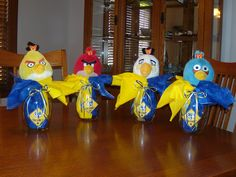 Blue and Gold Banquet centerpieces