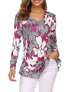 4-6 100/% Cotton-Black /& Red  Floral Hand-Embroidered Women/'s Split V-Neck Buttoned Full Sleeve Tunic~Top~Blouse-US Sizes XS 12-14 to XL