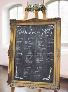 Handlettering-#DIY-#Hochzeit: Finde deinen Platz - #Sitzordnung