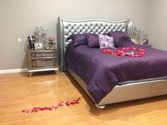 Grey & Purple Bedroom