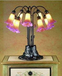 #MeydaTiffany 10-Light Tiffany Pond #lily 14429   LampsUSA