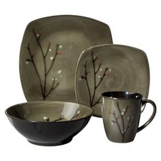 Sango Blossom 16-pc. Dinnerware Set  Target $59.99 (Gift cards towards this purchase would be great! And my roommates would appreciate it, haha)