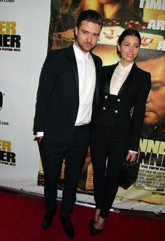 """Justin Timberlake y Jessica Biel en la alfombra roja de la premiere de su película """"Runner Runner"""" en Planet Hollywood Resort & Casino en Las Vegas"""