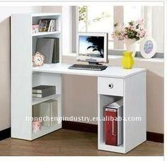 escritorios en l juveniles - Buscar con Google Small Furniture, Office Furniture, Bedroom Furniture, Home Office, Office Decor, Office Interior Design, Office Interiors, Bookcase Styling, Teenage Room