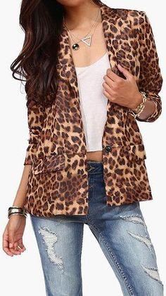 Leopard Blazer <3 L.O.V.E.