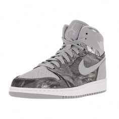 reputable site c3d13 4058a Shop for Nike Jordan Kid s Air Jordan 1 Retro Hi Prem Gg Wolf Grey Metallic  Silver White Basketball Shoe. Get free delivery at Overstock - Your Online  Shoes ...