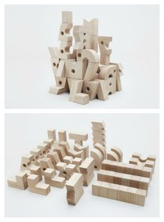 Temple is composed of 50 beautiful pieces of unfinished birch. The unexpected forms of the pieces arise children's creativity and allow them to build not only towers and constructions and anything they could imagine.