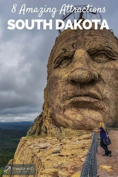 Getting up close and personal with the face of Crazy Horse in the Black hills of South Dakota // 8 Amazing South Dakota Attractions | The Planet D Adventure Travel Blog: Red Dust Active - Functional. Fun. Stylish - active accessories made for active liefstyles - www.reddustactive.com