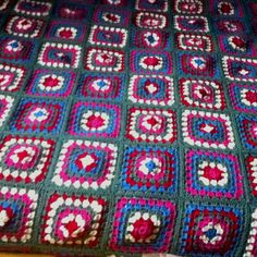 Love a granny square crochet blanket!!