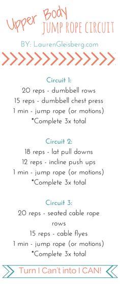 Upper Body Jump Rope Circuit Workout