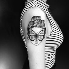 Butterfly tattoo by miltonreistatuador.  These blackwork tattoos are the most exquisite creations by some of the most renowned tattoo artists out there for your pleasure. Enjoy!