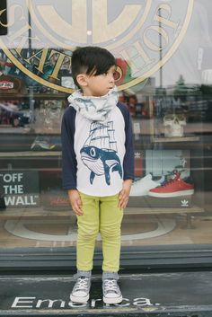 navy and white kids whaleboat baseball tee $22