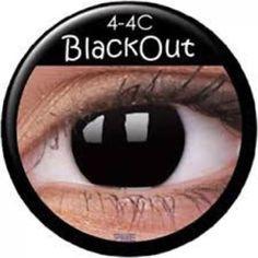Black Out Prescription Contact Lenses pc) Special Effect Contact Lenses, White Contact Lenses, Cosmetic Contact Lenses, Prescription Contact Lenses, Prescription Colored Contacts, Crazy Eye Makeup, Crazy Eyes, Costume Makeup, Make Design