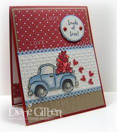 Loads of Love Valentine by DJLuvs2stamp - Cards and Paper Crafts at Splitcoaststampers