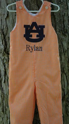 Boys Auburn Longall or Shortall Sizes 3mon-4T available Free Monogramming (other teams available) on Etsy, $37.99