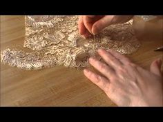 haute couture lacemaking - YouTube free motion joining shaped edges to lace fabric or any fabric.  shaping cuts around motif before joining