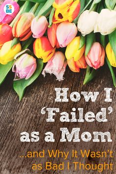 Do you beat yourself up and stress out when you feel like you failed as a mom? Here's one mom's story of how she felt terrible... only to realize that it's not as bad as we think.
