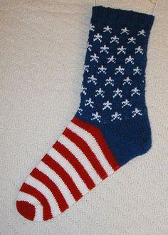 US Patriotic Patterns - Ravelry: American Flag Socks pattern by Rae B. Creedle