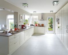Betontech White Matt Floor Tile By Terratinta Large Format Tile, Bathroom Interior, Interior Inspiration, Tile Floor, Kitchen Cabinets, Minimalist, Flooring, House, Design