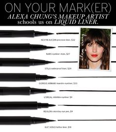 """You have to let the pen do the work."" -Alexa Chung's makeup artist talks liquid liner. #beautyblogger"