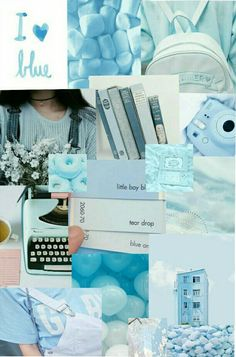 17 New Ideas For Wall Paper Iphone Blue Pastel Blue Aesthetic Pastel, Aesthetic Pastel Wallpaper, Aesthetic Colors, Aesthetic Collage, Aesthetic Backgrounds, Aesthetic Wallpapers, Cute Wallpaper Backgrounds, Blue Wallpapers, Flower Wallpaper