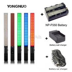 >> Click to Buy << Free Shipping!YONGNUO YN360 LED Video Light Ice Stick 3200k 5500k RGB Full Color F550 Battery #Affiliate