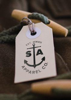 Sail & Anchor Apparel Co. by Andy Clark, via Behance