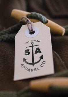Sail & Anchor Apparel Co. by Andy Clark, via Behance