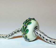 Luccicare Lampwork Bead  Twig   Lined with Sterling by Luccicare