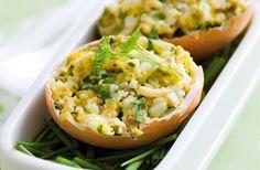 Jaja faszerowane pieczarkami.