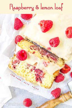 Keto Raspberry Lemon Loaf (low-carb, paleo, grain-free)