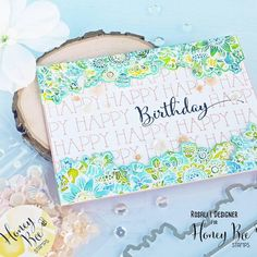 Birthday Cards, Happy Birthday, Honey Bee Stamps, Watercolor Cards, Kids Cards, Flower Cards, I Card, Zen, Card Making
