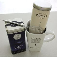 WinterDream TeaLatte Recipe: Ingredients  1 bag of Winter Dream Tea (Coffee Bean and Tea Leaf) 8 oz of boiling water: Steep for 5 min.  2 heaping tablespoons of Vanilla Powder or vanilla cocoa mix  Add steamed or cold milk to top it off!