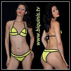 Biquíni IT GIRL 3D Yellow com bojo Ref.12311 Tamanhos P e G.