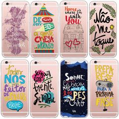 Newest Soft TPU Portugal French Words Custom Design Cell Phone Case Cover For Apple iphone 5 5s 6 6s Clear Skin Back Cover Capa
