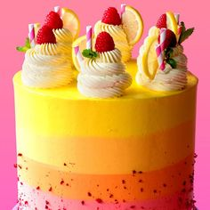 Raspberry Lemonade Cake Why drink lemonade when you can eat it in a beautiful cake tin? Raspberry Lemonade Cake 32832 Source by tastemade Beautiful Cakes, Amazing Cakes, Raspberry Lemonade Cake, Lemonade Cake Recipe, Sweet Recipes, Cake Recipes, Snacks Recipes, Baking Recipes, Bolos Naked Cake