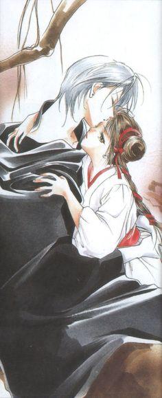 Miyu and Larva from Vampire Princess Miyu by Narumi Kakinouchi and Toshiki Hirano
