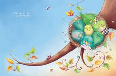 Elina Ellis Illustration: The Littlest Bird