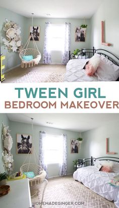 Preteen Girls Rooms, Preteen Bedroom, Small Girls Bedrooms, Diy Room Decor For Teens, Bedroom Decor For Teen Girls, Girl Bedroom Designs, Kids Bedroom, Decorating Stairs, Decorating Kitchen