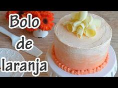 Bolo de laranja e Ganache branco e Creme de manteiga suiço - Massa: •250g de farinha de trigo •250g de açúcar •1 e 1/2 colher sp de fermento em pó • pitada de sal •130g de manteiga s/ sal •raspas de 1 laranja •3/4 xíc. chá de suco de laranja natural • 3 ovos = Ganache de chocolate branco: •300g de choc. branco •150ml de creme de leite = Geleia de laranja: •3 laranjas Bahia •150g de açúcar cristal = Creme de manteiga suiço: • 4claras • 200g de glaçúcar •300g de manteiga s/ sal •raspas de…