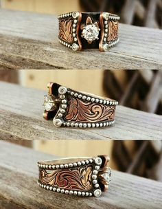 Absolutely beautiful custom copper and sterling ring