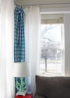 Definitely doing this DIY curtain rod tutorial (with metal conduit) for our 23 windows that need new treatments!