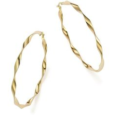 14K Yellow Gold Large Twisted Hoop Earrings - 100% Exclusive (1 940 AUD) ❤ liked on Polyvore featuring jewelry, earrings, gold, 14k earrings, gold twist earrings, gold hoop earrings, 14k gold earrings and 14k jewelry