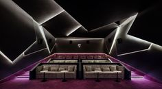 Image 24 of 34 from gallery of MOMO Office / PAL Design. Photograph by Qilin Zhang Home Theater Room Design, Home Cinema Room, At Home Movie Theater, Home Theater Rooms, Home Theater Seating, Theatre Design, Home Theatre, Design 24, House Design