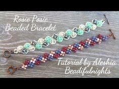 (5) Rosie Posie Beaded Bracelet + Necklace Tutorial - YouTube