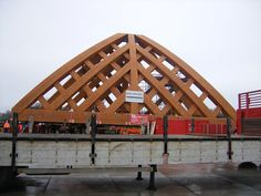 Road bridge constructed by laminating Accoya.br 650M3 of Accoya was used. All FSC Certified.